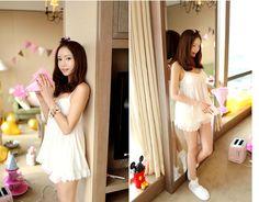 CHUU Petal Trim Net Layer Pajama Dress + Shorts Set - I know you wanna kiss me. Thank you for visiting CHUU. -