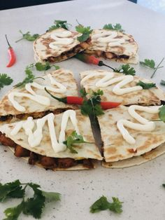 Chicken Peri Peri Quesadilla recipe by Mubina posted on 27 Feb 2019 . Recipe has a rating of by 1 members and the recipe belongs in the Breakfast, Brunch recipes category Peri Peri Chicken, Sour Cream Sauce, Tortilla Wraps, Quesadilla Recipes, Middle Eastern Recipes, Food Categories, Garlic Sauce, Marinated Chicken, Lunches And Dinners