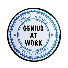 Genius At Work Button Pin Employee Appreciation Gift Funny Rad Award Outerspacebacon Employee Appreciation Gifts, Funny Work, Work Humor, Button, Work Memes, Buttons, Knot