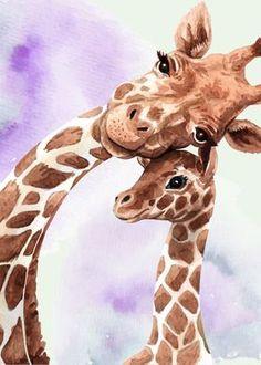 Giraffe Drawing, Baby Animal Drawings, Giraffe Painting, Giraffe Art, Cute Giraffe, Giraffe Colors, Giraffe Decor, Baby Giraffes, Giraffe Pictures