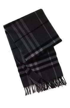 Burberry Giant Check Cashmere Scarf available at #Nordstrom. Get your Daily Style Playlist at http://www.shopfleur.co/
