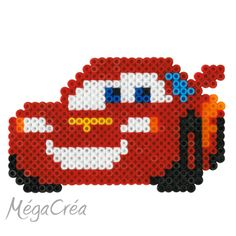 Hama midi pakker - Køb Hama midi perler i pakninger - Haandlavet. Perler Bead Designs, Hama Beads Design, Diy Perler Beads, Perler Bead Art, Melty Bead Patterns, Pearler Bead Patterns, Perler Patterns, Beading Patterns, Disney Cars