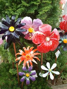 Beautiful fused glass flowers by Barn Art Studio in Creston, IA.