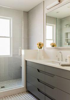 Cambridge Victorian - Terrat Elms Interior Design - Master Bathroom, Custom Designed Vanity