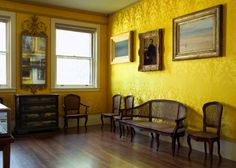 The Yellow Room was as the Men's cloakroom once. Isabella Stewart Gardner Museum : Browse