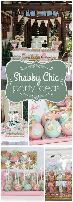 Check out this cute shabby chic heart themed party! See more party ideas at http://CatchMyParty.com!