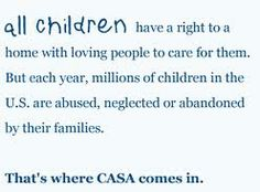 Learn about CASA, court appointed child advocate program