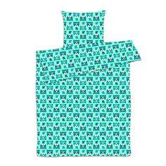 Baby sengetøj til dreng - Tiger blå sengetøj 70x100