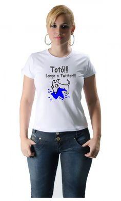 Camiseta Totó Larga o Twitter - Camisetas Personalizadas,Engraçadas | Camisetas Era Digital