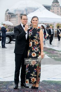 Crown Princess Victoria and Prince Daniel of Sweden arrive at the Opera House on the ocassion of the celebration of King Harald and Queen Sonja of Norway 80th birthdays on May 10, 2017 in Oslo, Norway. (Photo by Patrick van Katwijk/Getty Images)