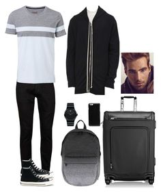 """""""Random Outfit for Men #6"""" by x1dlover4everx ❤ liked on Polyvore featuring Topman, Witchery, Converse, Herschel, Tumi, Movado, Maison Margiela, Sebastian Professional, Rick Owens and men's fashion"""