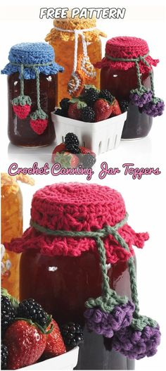 Crochet Canning Jar Toppers Free Pattern