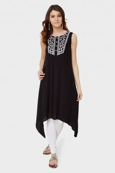 MAX Asymetrical Fall Sleeveless Kurta
