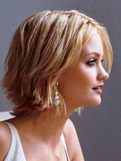 short hairstyles long at front short at back