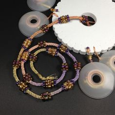 Marion Jewels in Fiber - News and Such  Kumihimo with bead clusters