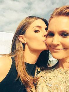 Photo of Darby Stanchfield & her friend actress  Stana Katic - Los Angeles