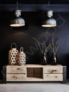 TV meubel eikenhout/metaal 'Toulouse' - Oldwood - De Woonwinkel