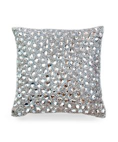 Jet Set Pillow by Casa Chic -Silver-