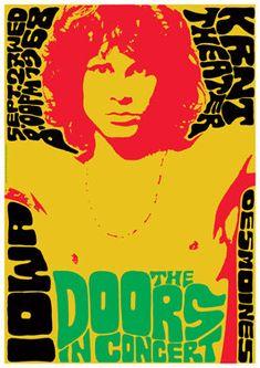 The DOORS Vintage Poster concert in 1968