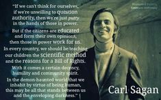 A quote from Carl Sagan about educated citizens