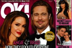 Angelina Jolie and Brad Pitt secret marriage rumors surface again  Although Angelina Jolie has denied rumors of a secret marriage, a celebrity gossip magazine comes with another version.
