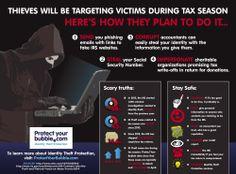 ID Theft During Tax Season - How to Avoid It @ProtectYourBubbleUS