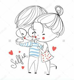 Valentine S Day Boy And Girl Love Cards Stock Vector Love