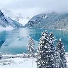 Lake Louise during winter.