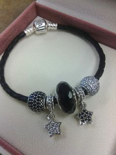 Midnight Starlight Pandora Bracelet. www.alexisdiamonds.com