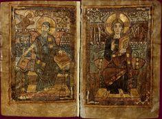 Évangéliaire de CharlemagneÉcole du Palais de Charlemagne, 781-783, ms. réalisé par GodescalcBnF, Manuscrits, Nouv. acq. nal.1203 BNF collection