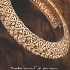 Diamond Bangle, Diamond Jewellery, Gold Jewelry, Gold Bangles, Bangle Bracelets, Designer Bangles, Tree Houses, Antique Gold, Necklace Set