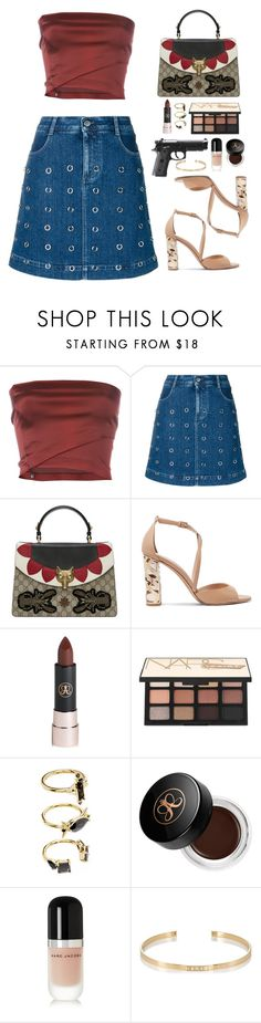 """Untitled #453"" by emmeleialouca on Polyvore featuring Romeo Gigli, STELLA McCARTNEY, Gucci, Burberry, Anastasia Beverly Hills, NARS Cosmetics, Noir Jewelry, Marc Jacobs and Ileana Makri"