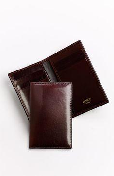 Men's Bosca 'Old Leather' Card Case - Brown