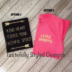 Fierce Mind Flourishing Shirt Arrows by TSDSHOPPING on Etsy