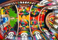 A historic church in the Spanish city of llanera was transformed into a skate-park earlier this year by La Iglesia Skate; titled Kaos Temple, it has now undergone a second, more colorful transformation at the hands of street-artist Okuda San Miguel.