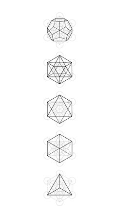 Sacred Geometry Symbols, Sacred Geometry Tattoo, Geometric Shapes Drawing, Geometric Art, Tatoo Sakura, Platonic Solid, Math Art, Flower Mandala, Flower Of Life