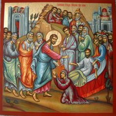 Christ raising from the dead the widow's son in the village of Nain #orthodox #christianity
