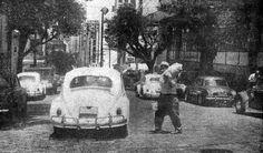 1966 - Os taxis da época na cidade de São Paulo.