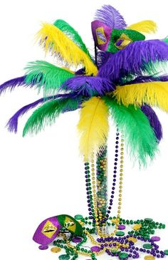 feather tree - mardi gras
