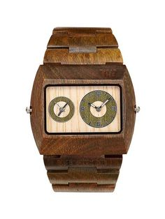 Handsome Wood Watch.