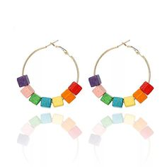 Rainbow block hoop – Lizzys Abode$6 Rainbow Blocks, Hoop, Earrings, Ear Rings, Frame, Pierced Earrings