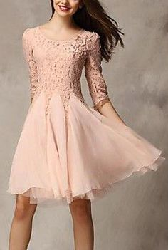 Women's Lace Floral Casual Dress