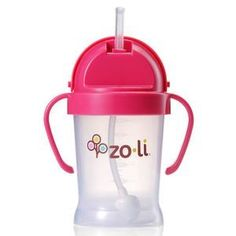 ZoLi BOT Sippy Cup. Just got this for Lila and its awesome! Doesn't leak when she turns it upside down and weighted straw moves with the water level.