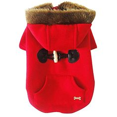 Winter Dog Cat Pet Clothes Apparel Buttons Hoodie Sweater Coat -- Click image to review more details. (This is an affiliate link) #Dogs