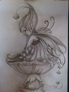 Pencil Portraits - un trait de fée follette. - Discover The Secrets Of Drawing Realistic Pencil Portraits.Let Me Show You How You Too Can Draw Realistic Pencil Portraits With My Truly Step-by-Step Guide. Fairy Drawings, Fantasy Drawings, Pencil Art Drawings, Drawing Sketches, Fantasy Art, Elfen Tattoo, Fairy Sketch, Fairy Coloring Pages, Fairy Art