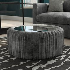 Buy Clio Ottoman Storage Pouffe in Grey Velvet - Coffee Table from - the UK's leading online furniture and bed store Velvet Furniture, Living Room Furniture, Living Room Decor, Glass Top Coffee Table, Coffee Table With Storage, Ottoman Storage, Online Furniture, Color Pop, Armchair