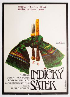 Poster Auction / TUESDAY 04.10.2016 / Starting at £0.99 / INDIAN SCARF / #movieposter #postersale #graphicdesign