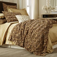 Make your nights a little wilder with Pier 1's luxurious faux-fur Leopard Fuzzy Blanket and Shams.