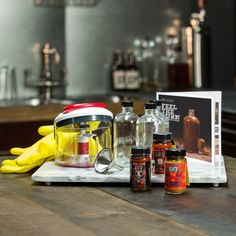 For the half mad scientist, half masochistic heat-seeker, the Hot Sauce Making Kit will put the power in his hands and the water in his eyes.