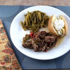 italian roast beef in the crockpot via Frugal Antics of a Harried Homemaker